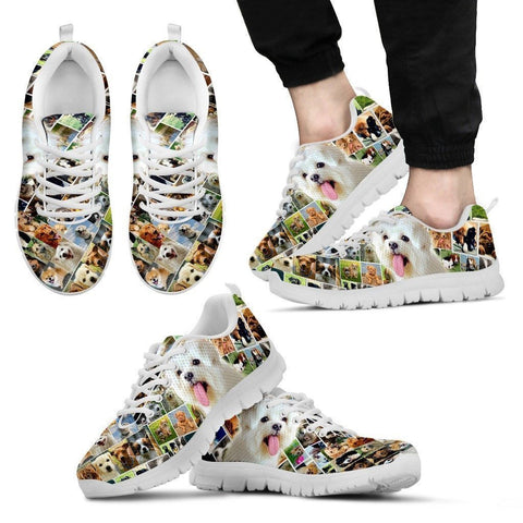 Lovely Meltese Print-Running Shoes For Men-Express Shipping-Paww-Printz-Merchandise