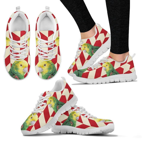 Yellow Headed Amazon Parrot Christmas Running Shoes For Women-Free Shipping-Paww-Printz-Merchandise