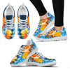 Goldfish Print Christmas Running Shoes For Women- Free Shipping-Paww-Printz-Merchandise