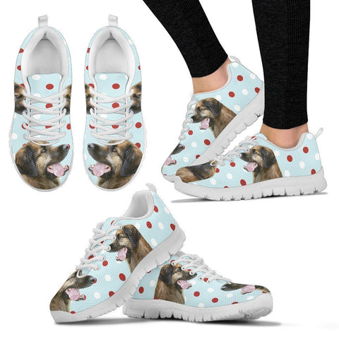Leonberger With Red White dots Print Running Shoes For Women-Free Shipping-Paww-Printz-Merchandise