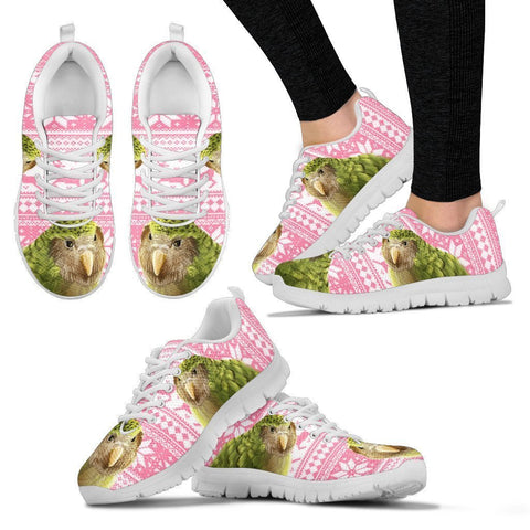 Sirocco Parrot (Kakapo) Christmas Running Shoes For Women-Free Shipping-Paww-Printz-Merchandise