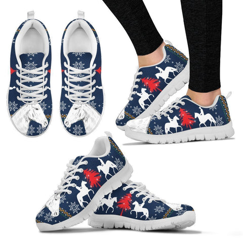 Mangalarga Marchador horse Print Christmas Running Shoes For Women-Free Shipping-Paww-Printz-Merchandise