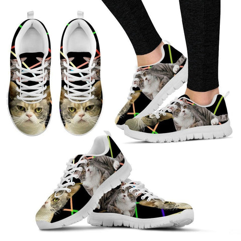 American Wirehair Cat Running Shoes For Women-Free Shipping-Paww-Printz-Merchandise