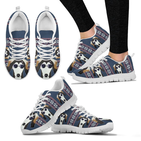 Saluki Christmas Print Running Shoes For Women-Free Shipping-Paww-Printz-Merchandise