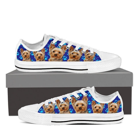 Yorkshire Print (White) Low Top Canvas Shoes For Women-Express Shipping-Paww-Printz-Merchandise