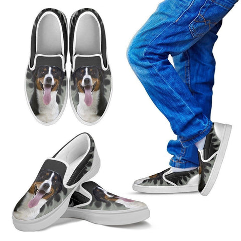 Greater Swiss Mountain Dog Print Slip Ons For Kids-Express Shipping-Paww-Printz-Merchandise