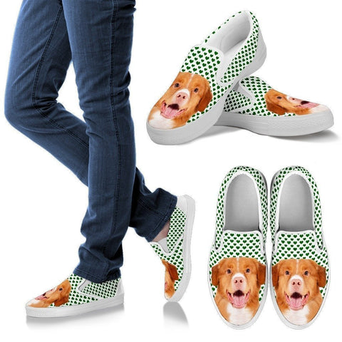 Nova Scotia Duck Tolling Retriever Print Slip Ons For Women-Express Shipping-Paww-Printz-Merchandise