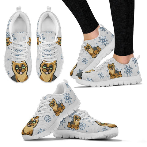 Norwich Terrier Christmas Print Running Shoes For Women- Free Shipping-Paww-Printz-Merchandise