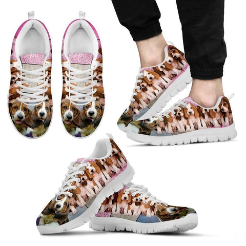 Basset Hound Group-Dog Shoes For Men-Free Shipping Limited Edition-Paww-Printz-Merchandise