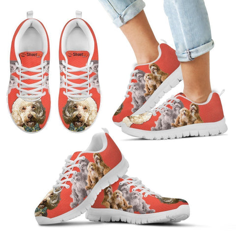 Cute Labradoodle Print Running Shoes For Kids- Free Shipping-Paww-Printz-Merchandise