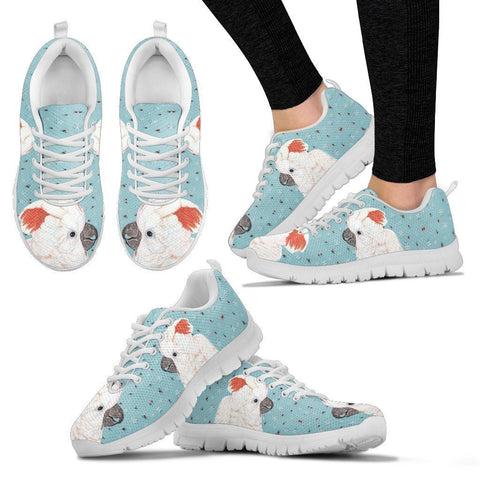 Salmon Crested Cockatoo Parrot Print Christmas Running Shoes For Women-Free Shipping-Paww-Printz-Merchandise