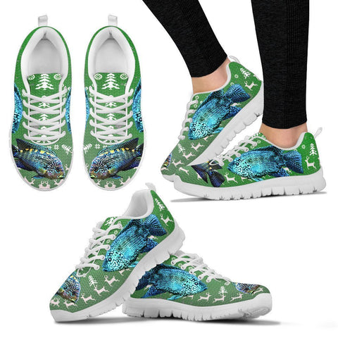 Jack Dempsey Fish Print Christmas Running Shoes For Women- Free Shipping-Paww-Printz-Merchandise