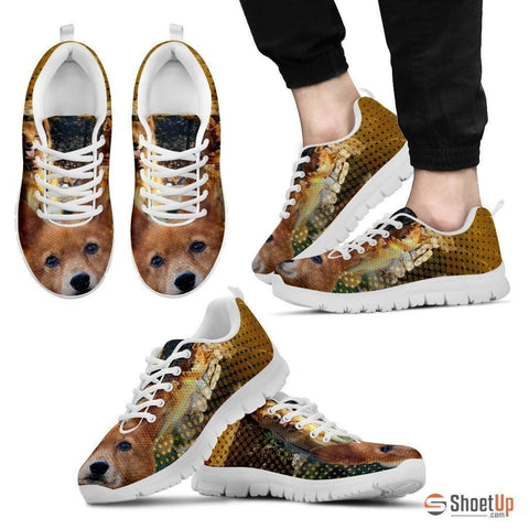 Finnish Spitz Dog Print Shoe (Men/Women)- Free Shipping-Paww-Printz-Merchandise