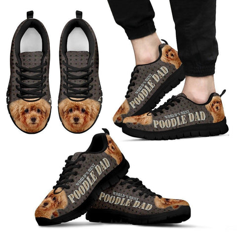 'World's Best Poodle Dad' Running Shoes-Father's Day Special-Paww-Printz-Merchandise