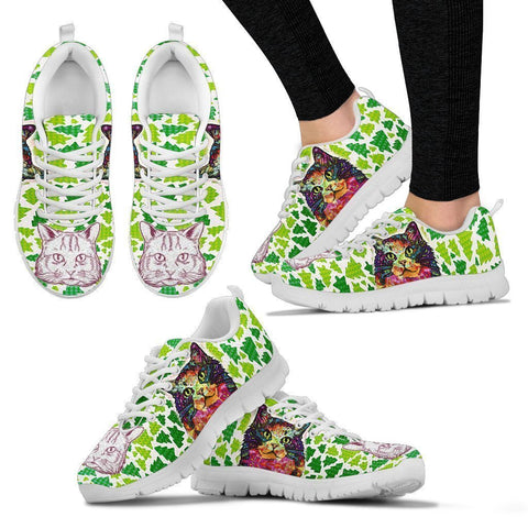 Ragamuffin Cat Christmas Running Shoes For Women- Free Shipping-Paww-Printz-Merchandise