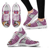 Bulldog Print Christmas Running Shoes For Women-Free Shipping-Paww-Printz-Merchandise