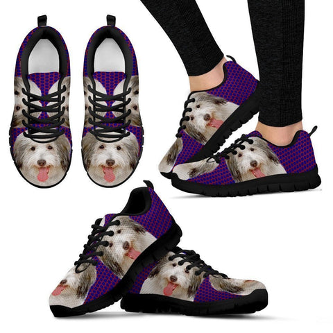 Coton De Tulear Dog (White/Black) Running Shoes For Women-Free Shipping-Paww-Printz-Merchandise