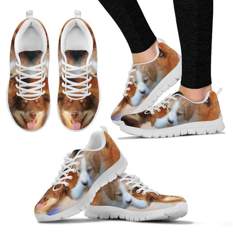 English Shepherd Print Running Shoes For Women- Free Shipping-Paww-Printz-Merchandise