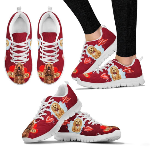 Valentine's Day Special-English Cocker Spaniel Print Running Shoes For Women-Free Shipping-Paww-Printz-Merchandise
