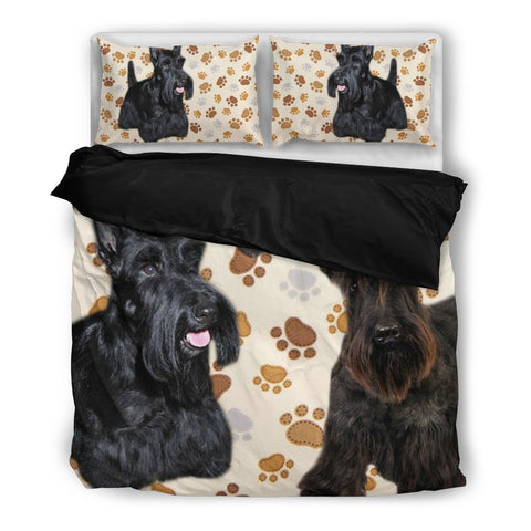 Scottish Terrier Paw Print Bedding Set -Free Shipping