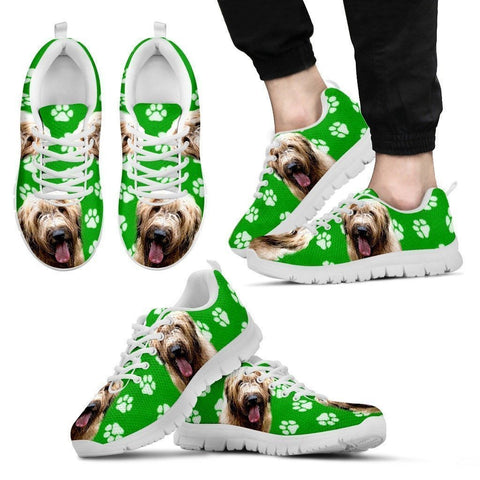 Briard Dog Print (Black/White) Running Shoes For Men-Limited Edition-Express Shipping-Paww-Printz-Merchandise