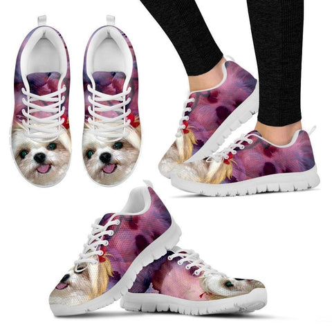 Shih Tzu Cute Puppy Running Shoe Women- Free Shipping-Paww-Printz-Merchandise