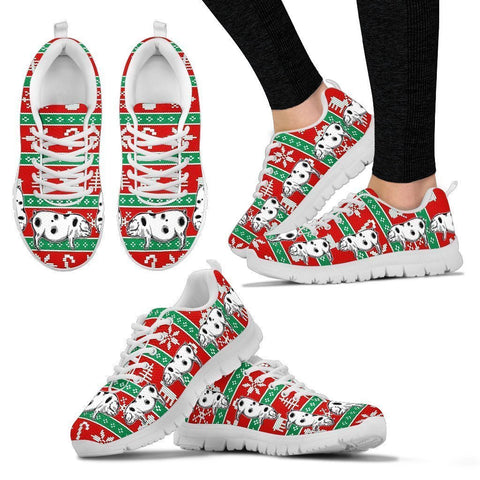 Ossabaw Island Pig 2nd Print Christmas Running Shoes For Women- Free Shipping-Paww-Printz-Merchandise