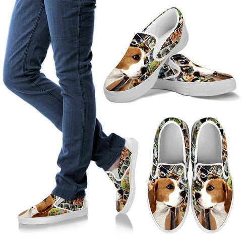 Amazing Beagle Dog Print Slip Ons For Women-Express Shipping-Paww-Printz-Merchandise