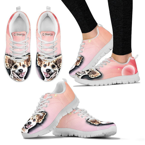 Customized Dog Shoes-Cartoon Running Shoes For Women-Designed By Sandy Hunter-Express Shipping-Paww-Printz-Merchandise