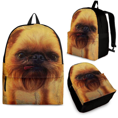 Brussels Griffon Print Backpack- Express Shipping-Paww-Printz-Merchandise