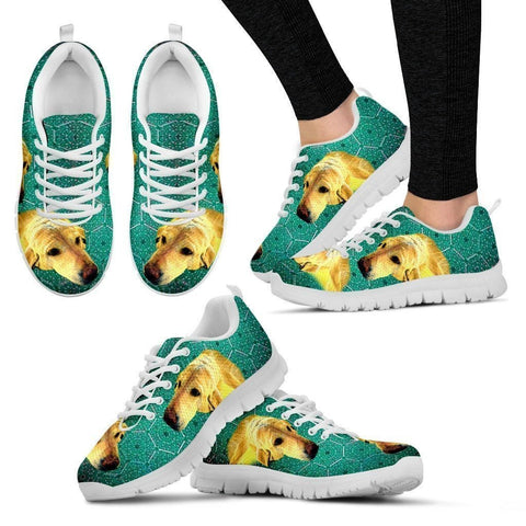 Customized Dog Print Running Shoes For Women-Express Shipping-Designed By Eleonore Lawson-Paww-Printz-Merchandise