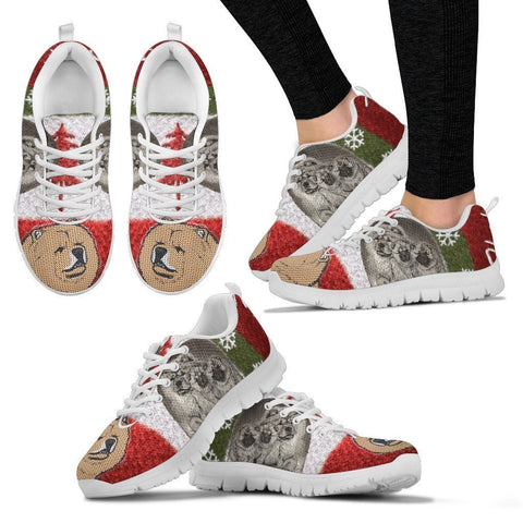 Chow Chow Christmas Running Shoes For Women- Free Shipping-Paww-Printz-Merchandise