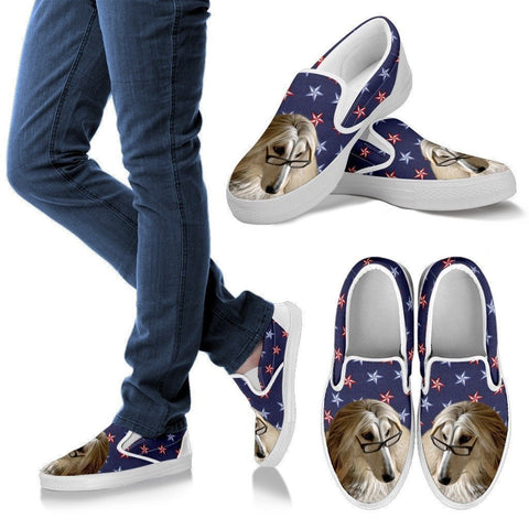 Afghan Hound Dog Print Slip Ons For Women-Express Shipping-Paww-Printz-Merchandise
