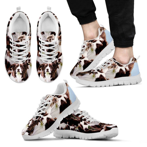 English Shepherd In Lots Print Running Shoe For Men- Free Shipping-Paww-Printz-Merchandise