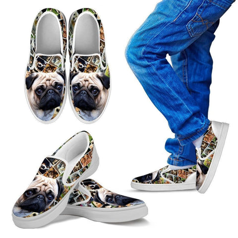 Amazing Pug Print Slip Ons For Kids-Express Shipping-Paww-Printz-Merchandise