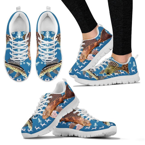 Suckermouth CatFish (Hypostomus plecostomus) Print Christmas Running Shoes For Women- Free Shipping-Paww-Printz-Merchandise