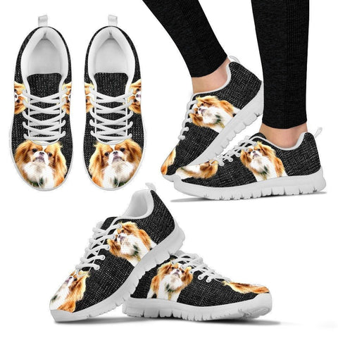 Customized Dog Print-(Black) Running Shoes For Women-Limited Edition-Designed By Mary Wagman-Paww-Printz-Merchandise