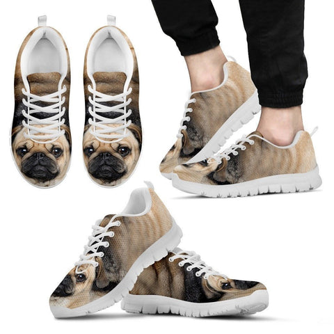 Pug Dog Running Shoes For Men-3D Print-Free Shipping-Paww-Printz-Merchandise