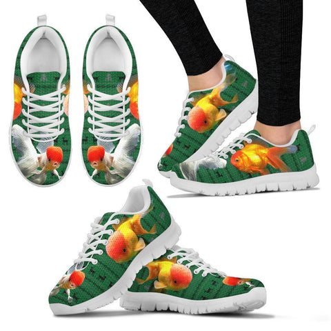 Oranda Fish Print Christmas Running Shoes For Women- Free Shipping-Paww-Printz-Merchandise