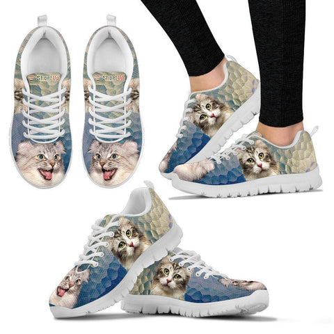 American Curl Cat (Halloween) Print-Running Shoes For Women-Free Shipping-Paww-Printz-Merchandise