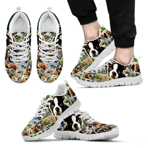 Lovely Boston Terrier Print- Running Shoes For Men-Express Shipping-Paww-Printz-Merchandise