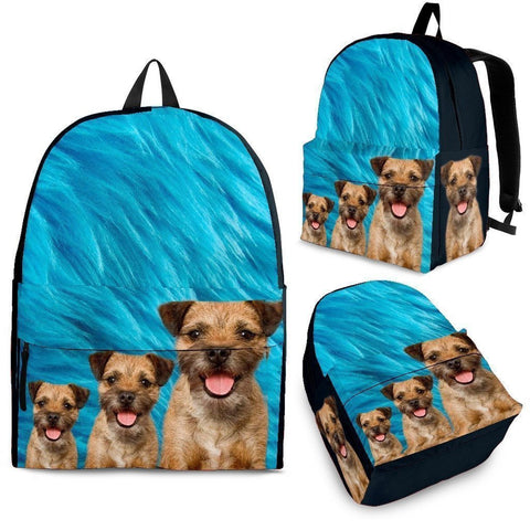 Border Terrier Print Backpack- Express Shipping-Paww-Printz-Merchandise