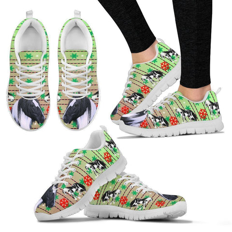 Gypsy horse Print Christmas Running Shoes For Women-Free Shipping-Paww-Printz-Merchandise