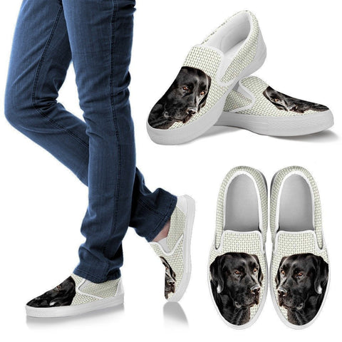 Black Labrador Print Slip Ons For Women-Express Shipping-Paww-Printz-Merchandise