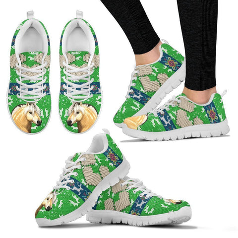 Fjord Horse Christmas Running Shoes For Women- Free Shipping-Paww-Printz-Merchandise