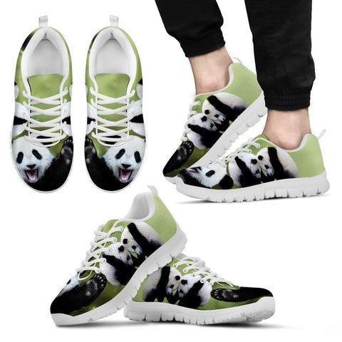 Lovely Panda Printed Running Shoes For Men-Free Shipping Limited Edition-Paww-Printz-Merchandise