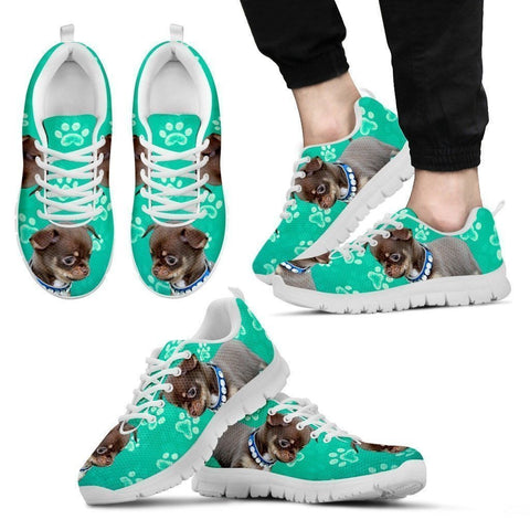 Paws Print Chihuahua (Black/White) Running Shoes For Men-Limited Edition-Express Delivery-Paww-Printz-Merchandise