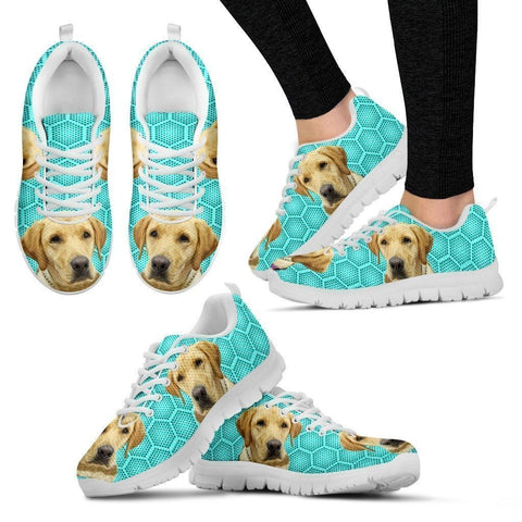 Customized Dog Print-(White) Running Shoes For Women-Express Shipping-Designed By Cindy Mattera-Paww-Printz-Merchandise