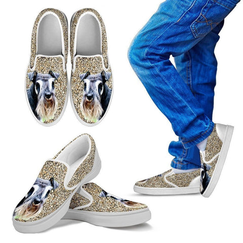 Schnauzer Dog Print Slip Ons For Kids-Express Shipping-Paww-Printz-Merchandise