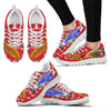 Slender Danios Fish Print Christmas Running Shoes For Women- Free Shipping-Paww-Printz-Merchandise